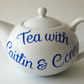 Wedding teapot 6 cup  Mr and Mrs anniversary  gift