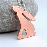 Copper Hare Pendant