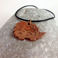 Copper Hedgehog Necklace