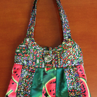 Patchwork Shoulder Bag. 3 fabrics.