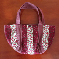 Maroon Bag, Boat Shape Patchwork bag.