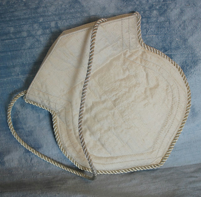 Bridal Bag, Ivory Silk Dupion.