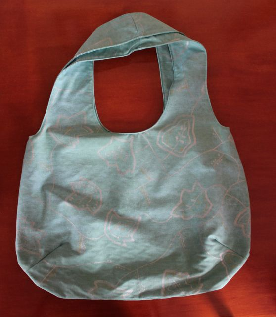 Reversible Turquoise Beach Bag.