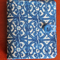 Cyanotype Needle Case with light blue felt.