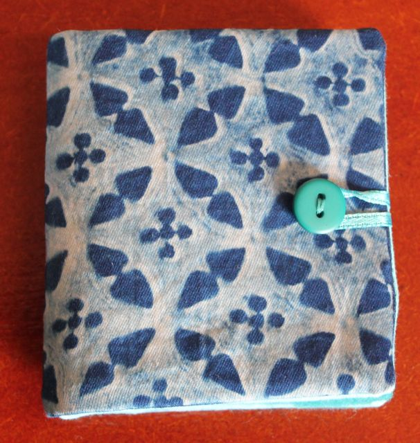 Needle Book with Cyanotype on Front.