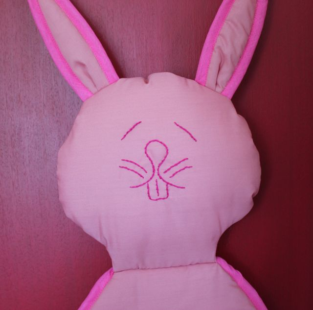 Rabbit Shoe and Accessory Hanging. Pink.