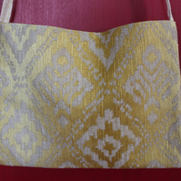 Yellow & Buff 2 sided Small Shoulder Bag