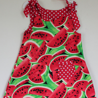 Watermelon Print Reversible Dress, 4 sizes available