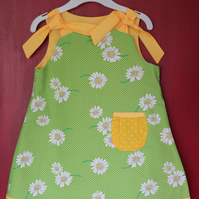 Daisy Print Reversible Sun Dress, 2 Sizes available