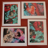 4 x Cards from Original Machine Embroidery