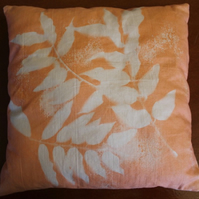 Lumi Inkodye Cushion, 2 sided, Orange