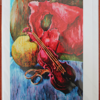 "5x7 Card taken from 'Cutting Strings"" Original Painting"