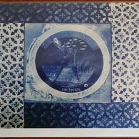 December Roundel 5x7 Card from Cyanotype