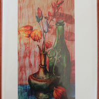 Ink Still Life, 5x7 Card taken from an original painting by Rebecca Spragge