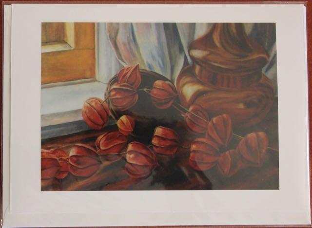 "5x7 Card taken from 'Chinese Lanterns"" Original Painting by Rebecca Spragge"