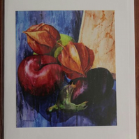 Fruit & Veg Still Life 5x7 Card from an original painting
