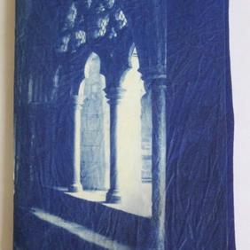 Norwich Cathedral Cloisters Cyanotype Needle Case