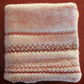 Embroidered Needle Case, Cream and Dusky Pink with Mc Embroidery no.3