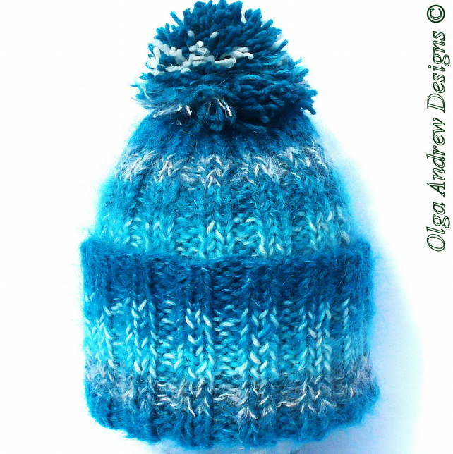 35a2fef51fb Mohair and wool hand knitted hat winter hat wom... - Folksy