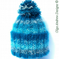 Mohair and wool hand knitted hat winter hat womens hat girls hat wool hat pompom