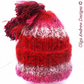 Hand knitted winter hat with pompom mohair hat wool hat handmade hat girls hat