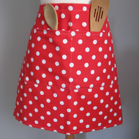 Red Polka Dot Half Apron