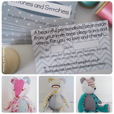 Size 'Large' Keepsake Memory Bear Voucher.. Bear Made From Your Baby's Clothing