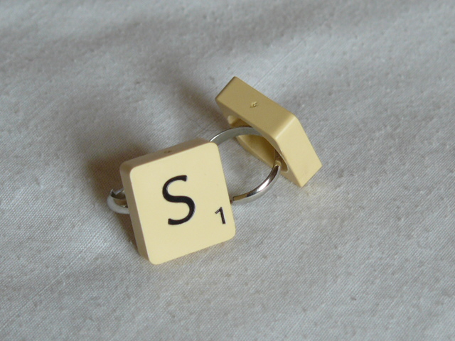 Scrabble Ring With Free UK P & P