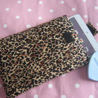 Animal Print Mini Ipad or Small Tablet Padded Cover or Sleeve