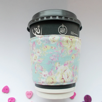 Turquoise Floral Mug Cup Cosy