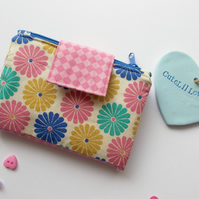 Floral Twin Pocket Zipped Purse Wallet