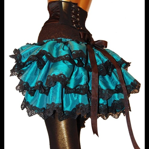 ABSINTHE ANGEL Fabulous Burlesque Bustle, Shrug or Capelet THREE ITEMS IN ONE