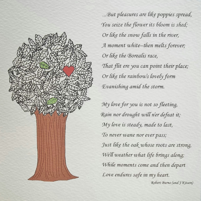 A5 Illustrated Love Poem Print