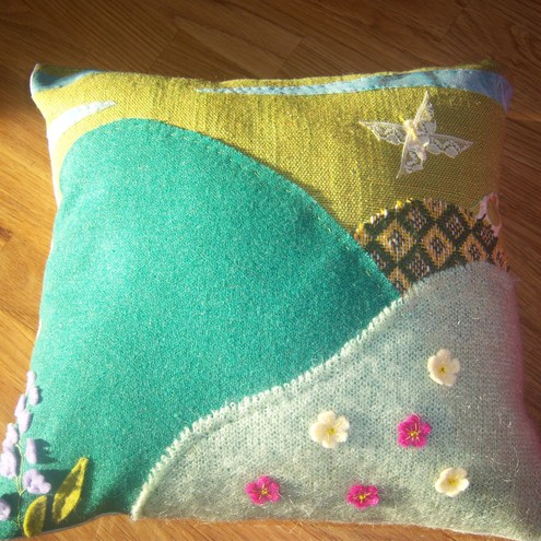 Decorative landscape cushion