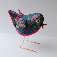 Fabric freestanding bird  - collectable little friend