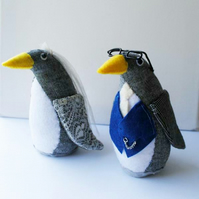 RESERVED for HTunme84r - fabric penguin wedding cake toppers