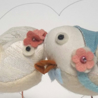 RESERVED for Netball2011 - custom bird wedding cake toppers