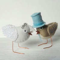Reserved order for Sewchic - custom wedding bird cake-topper