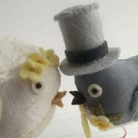 RESERVED for Clairemaxi - custom wedding bird cake toppers