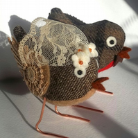 RESERVED for JenWren - custom fabric wedding birds cake toppers