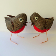 A Pair of Christmas Robins