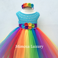 Little Pony Birthday Tutu Dress, Rainbow tutu dress, my little pony tutu dress