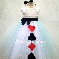 Alice in Wonderland Princess Birthday tutu dress, Alice costume, Alice outfit