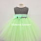 ON SALE,  Grey Green Birthday dress tutu dress, bridesmaid dress, princess dress