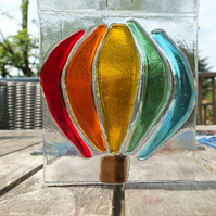 Bristol Balloons : Fused Glass Hot Air Balloon Suncatchers :: free UK delivery