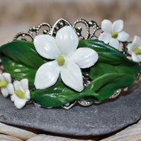 Handmade Summer Jasmine Bangle