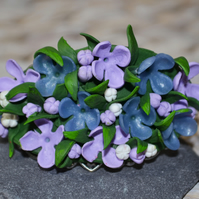 Handmade Polymer Clay Lilac Bangle