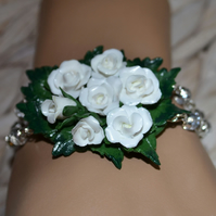 Handmade 'Corsage' Bracelet, perfect for Proms, Weddings - or special occasions