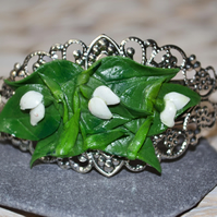 Handmade Polymer Clay Snowdrop Bangle
