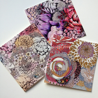 Set of three greetings cards